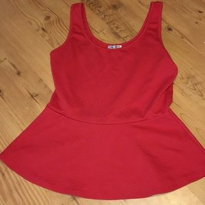 Tops - 🌞 3 for $10 🌞 Red Peplum Tank Top